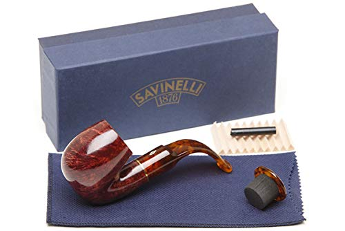 Savinelli Italian Tobacco Smoking Pipes, Tortuga Smooth 614