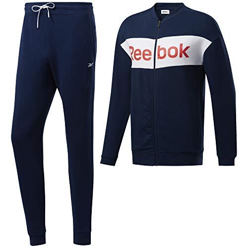 Reebok Te Linear Logo Ft TS Sportanzug für Herren L Braun (Maruni)