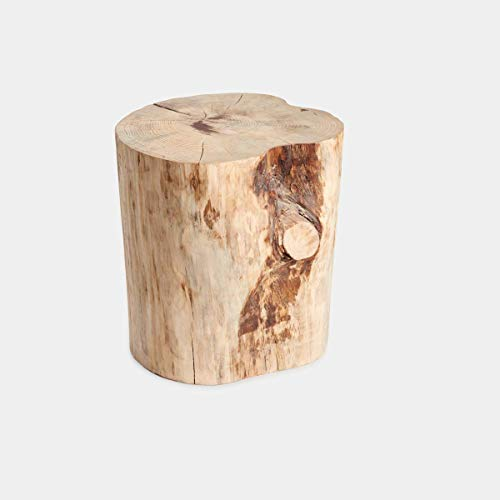 Rebajas Ofertas, antes 78€- ahora 65€, tocón troncos madera de pino macizo tocon árbol, 40x23-26 cm elige el color que mas te guste,natural,blanco o negro