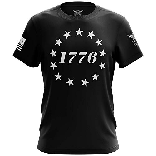 We The People Holsters - 1776 Betsy Ross Flag - Betsy Ross Flag Shirt - Short Sleeve T Shirt - American Flag Shirt - American Flag Patriotic Shirt - Black - L