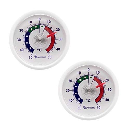 Lantelme Termometro frigorifero termometro 2 pz. set analogico autoadesivo Freezer Termometro 4656
