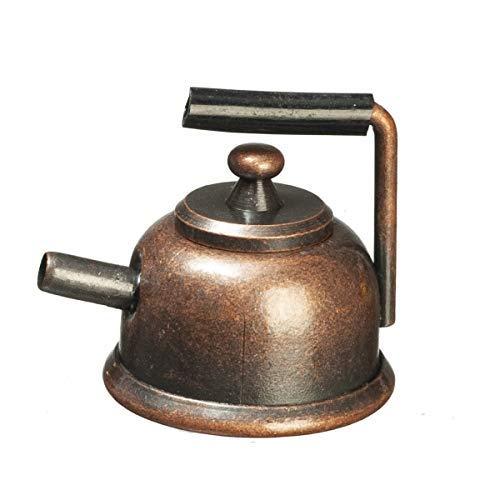 Puppenhaus Antik Bronze Wasserkocher Metall Teekanne Miniatur 1:12 Küchenzubehör