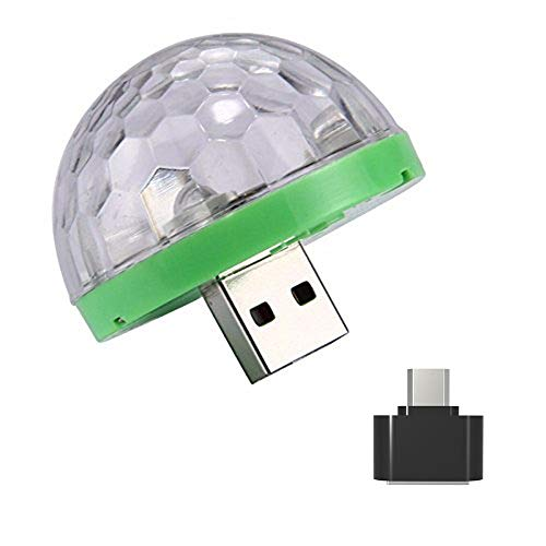 UKtrade® Mini Coche Usb Party Luz DJ Led RGB Música de Sonido...