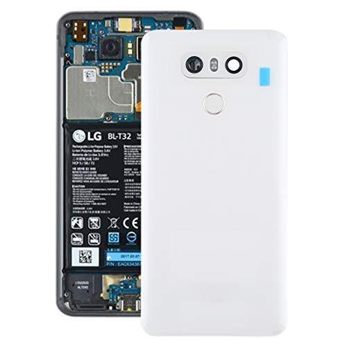 YIHUI Repare Repuestos Tapa Trasera de batería con Lente de cámara y Sensor de Huellas Dactilares for LG G6 / H870 / H870DS / H872 / LS993 / VS998 / US997 (Negro) Partes de refacción (Color : White)
