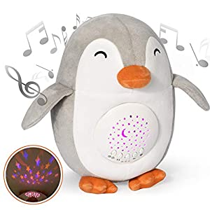 Baby Sleep Soothers, Momcozy Rechargeable Baby White Noise Machine with Crying Sensor, 3 Timer and Volume Control Night Light Soother, 15 Lullabies Baby Sound Machine for Newborns and Up
