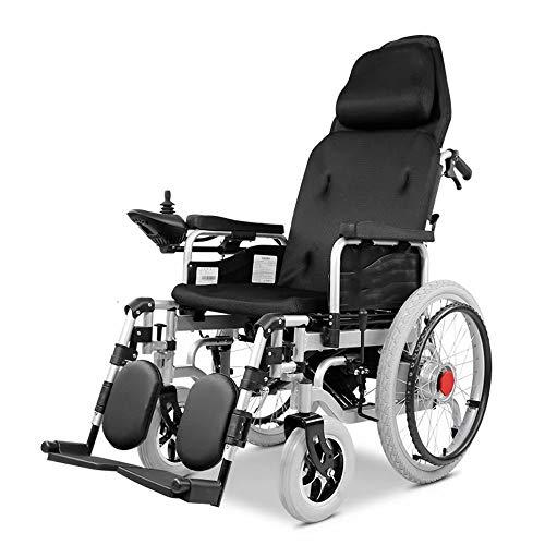 electric wheelchair Elektrorollstuhl, Elektroantrieb oder als manueller Rollstuhl, Hochleistungs-Elektrorollstuhl mit Kopfstütze, Sitzbreite 43 cm, Gewicht 100 kg (20AH Lithiumbatterie)
