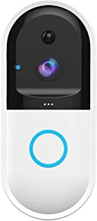 Video Doorbell, Wireless Door Bell with Motion Sensor, 720P Security Camera, WiFi APP Remote Control, HD Night Vision, 2-Way Talking, 170 Degree Wide Angle, Good for Garage, Yards, Garden