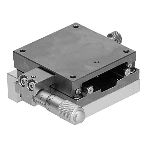 Mesa deslizante de ajuste fino, platina deslizante de aleación de aluminio para microscopios para dispositivos de medición