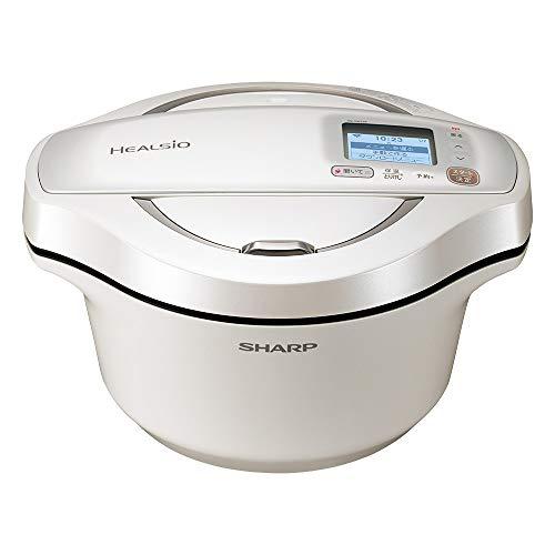 シャープ 水なし自動調理鍋 2.4L ホワイト系SHARP ヘルシオホットクック KN-HW24E-W