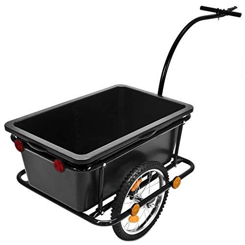GEORGES Cykeltrailer, transportvagn, handvagn, släpvagn, 150 kg, 90 liter