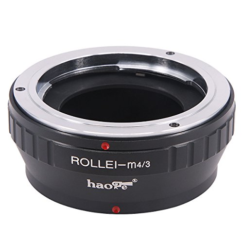 Haoge Manual Lens Mount Adapter for Rollei 35 SL35 QBM Quick Bayonet Mount Lens to Olympus and Panasonic Micro Four Thirds MFT M4/3 M43 Mount Camera