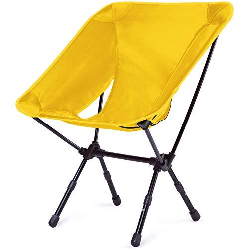 Moon Lence アウトドアチェア 耐荷重150kg 3段階伸縮調節 折りたたみイス コンパクト 超軽量 収納バッグ付き キャンプ椅子 お釣り 登山 ハイキング…