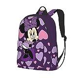 Anime Cartoon Cute Mi-Nnie Mouse Backpack Bookbag Lightweight Bag Daypack Durable Backpack, Stylish Multifunction Backpack For Boys Girls Kids