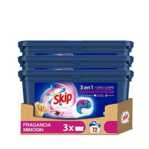 Skip Ultimate 3en1 Detergente Capsulas Fragancia Mimosín 24lav - Pack de 3