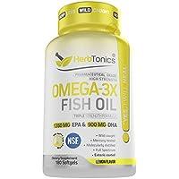 180-Count Herbtonics High Strength Omega 3 Fish Oil Supplement