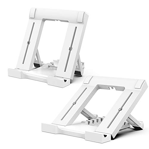 Bigqin 2 Packs Tablet Stand Multi-Angle Cell Phone Stand, Universal Foldable Tablet Phone Stand Compatible with iPad Stand, White