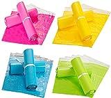 Liuer 100PCS Color Bolsas para Envíos Autosellante Sobres de Envío Sobres de Correo Bolsas para Embalaje para Postales(20 x 35cm)
