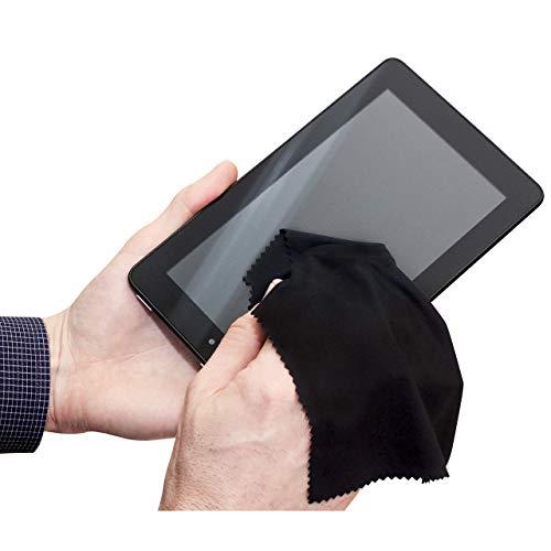 SampT INC Microfiber Tech Cloths for iPhone iPad Android smartphones PC Mac Laptop screens Black