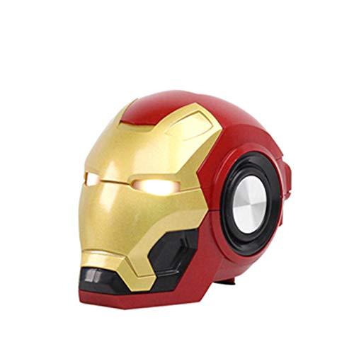 Liuying Iron Man Cartoon Altoparlante Bluetooth Fm Radio Portatile Bass Wireless Mini Robot Altoparlante Senza Fili Esterna Altoparlante Mp3 Boom Tf
