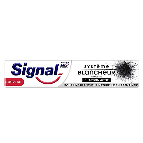 comparateur Dentifrice blanchissant au charbon actif Signal 75 ml
