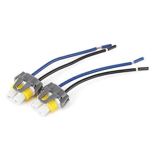 Arnés de enchufe KIMISS, 2 uds H11/H8 conector de enchufe de arnés de cableado adaptador hembra para faro antiniebla