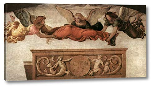 "St Catherine Carried to her Tomb by Angels by Bernardino Luini - 9"" x 16"" Gallery Wrap Canvas Art Print - Ready to Hang"