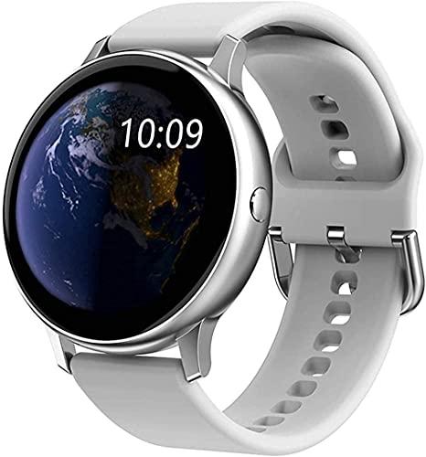 Hombres s y mujeres s relojes inteligentes pulseras de moda 1 2 pulgadas pantalla táctil múltiples deportes fitness trackers sueño y otros monitoreo multifunción-gris