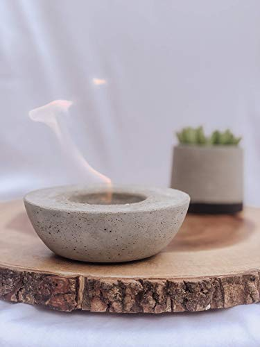 SMALL & LARGE Concrete Firepit | Personal Smokeless Firepit | Indoor| Outdoor | Tabletop | Industrial | Minimalist