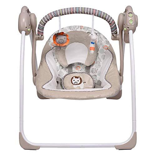 VASTFAFA Électrique Balancelle Bébé Multifonctions Pliable,Transat Musical Apaisant pour Bébé