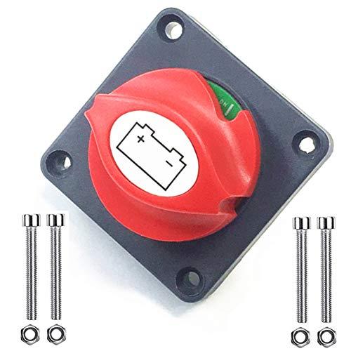 Qiorange Batterie-Trennschalter 350A 12V/24V/48V Abnehmbarer Knopf Batterieabschaltung Batterietrennschalter für Auto LKW Boot Van Wohnwagen Automobilelektronik Elektrische Produkte(Type I 1 Stück)