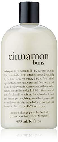 philosophy cinnamon bun shampoo, shower gel & bubble bath, 16 oz