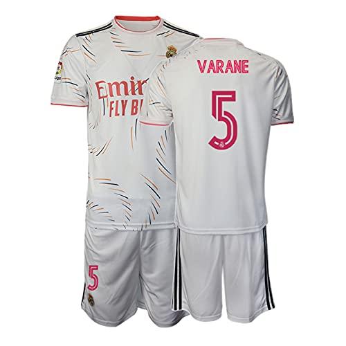 BASTB Inicio Camiseta de fútbol, camiseta de fútbol para hombre, juego de uniforme de ropa deportiva para niños, #5 Blanco, L/XL