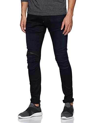 G-STAR RAW Herren 5620 3D Zip Knee Super Slim Jeans, Blau (Dk Aged 89), 32W / 32L