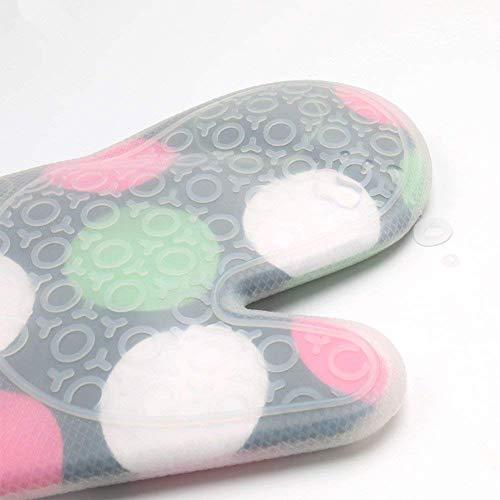 GCT Hitzebeständige Silikon-Küchenhandschuhe,Ofen-Handschuhe Dickere Silikon,Kochende, Handschuh-Mikrowellenherd-Küche Druck-Handschuhe,Weiß
