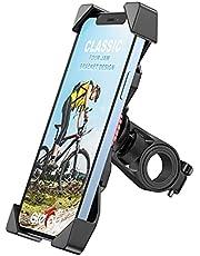 Grefay Telefonhållare för Cykel, Universal Skoter Motorcykel Telefonhållare för 12 Mini, 12 Pro Max, 11 Pro, Pro Max Xs 8 X 8P 7 7P 6S, Samsung S10 S9 S8, Huawei, Alla 3,5-6,5 Tums Smartphone