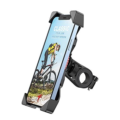 Grefay Soporte Movil Bicicleta Soporte Eléctrico Scooter Universal Manillar Motocicleta para 3.5'-6.5' Smartphones con Rotación 360°