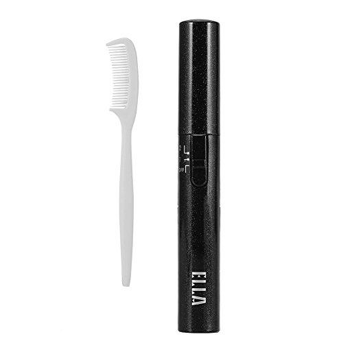 Rizador de pestañas con calefacción eléctrica herramienta de maquillaje que se encrespa de larga duración con peine
