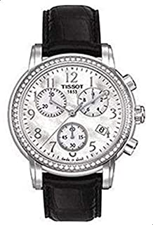 Tissot Women's Mother of pearl Dial Leather Band Watch - T050.217.16.112.01