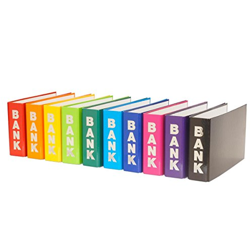 10 Bankordner 140x250mm Ordner für Kontoauszüge / 10 verschiedene Farben