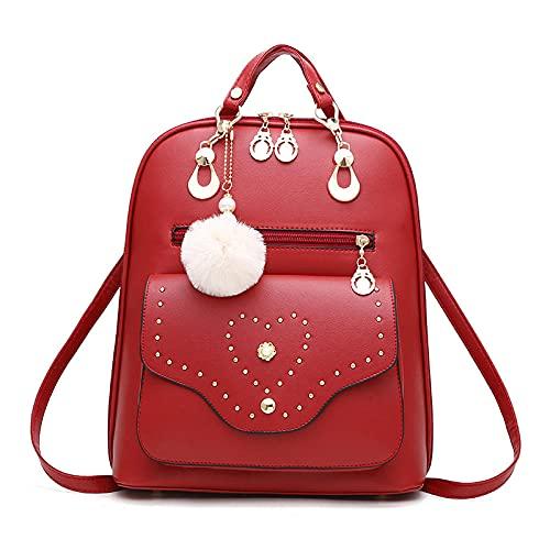 BeniDos veces bolsa femenina nueva moda salvaje salvaje bolso de viaje-vino tinto