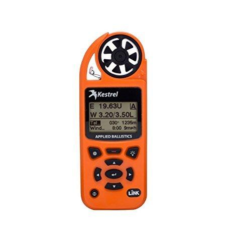 Kestrel Elite Wettermessgerät mit aufgesetzter Ballistik und Bluetooth Link, Unisex, KEST-0857ALBLZ, Orange, Einheitsgröße