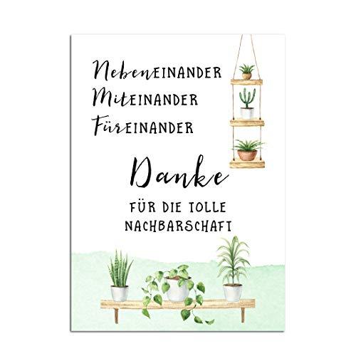 Postkarte Nachbarschaft Geschenk Nachbarn Geschenk beste Nachbarn