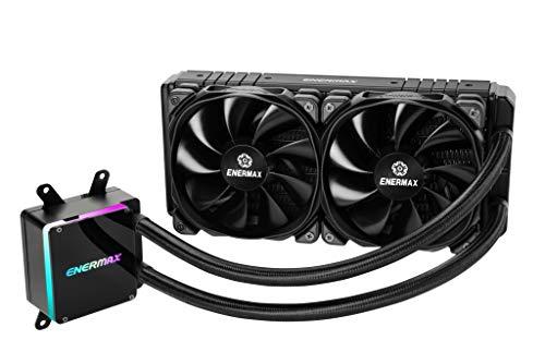 Enermax Liqtech TR4 II 240 Addressable RGB AIO CPU Liquid Cooler, AMD Threadripper sTRX4/TR4/SP3, Dual Chamber Pump, 5V 3-PIN ARGB, 500W+ TDP, 5-Yr Warranty