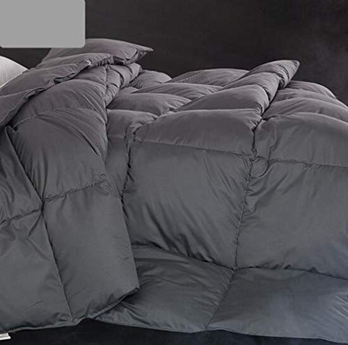 WM-Quilt Bedding Duvet Quilt 50% Goose Down Winter Warm Duvet Cotton Anti Dust Mite Down Proof Fabric Anti allergen Easy Care Double Bed Wedding,Hotels,Bedrooms,Adults,Children A/Gray / 18