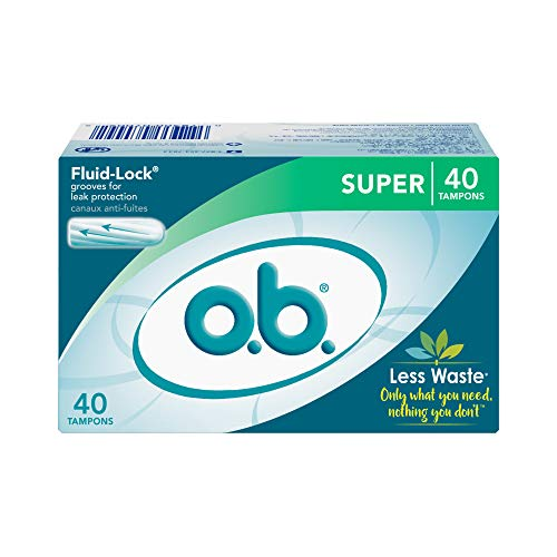 o.b. Applicator Free Digital Tampons, Super - 40 Count