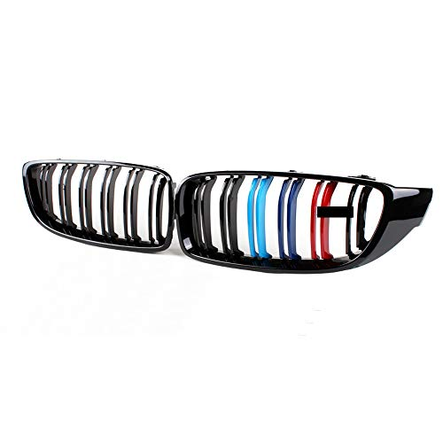 DSEB Grill Ridney Brilly Brillante, para BMW 4 Series F32 F33 F36 F80 M3 F82 M4 F83 M4 Frente Frente M Color 2013-2019,Glossy m Color
