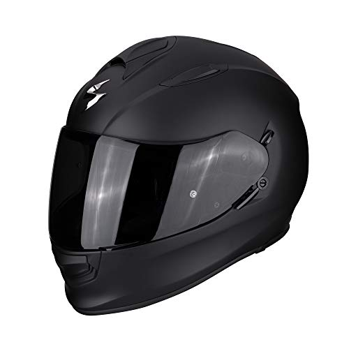 Scorpion Helm EXO-510 AIR SOLID schwarz matt AirFit Sonnenblende Max Pinlock, XL 61/62