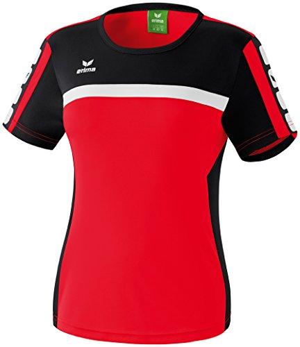 Erima Damen Classic 5-C T-shirt, rot/schwarz/weiß, 42