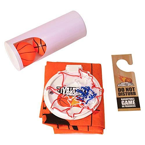 trendaffe Basketball Klo-witzki Toilettenspiel - WC-Set Toiletten Spiel