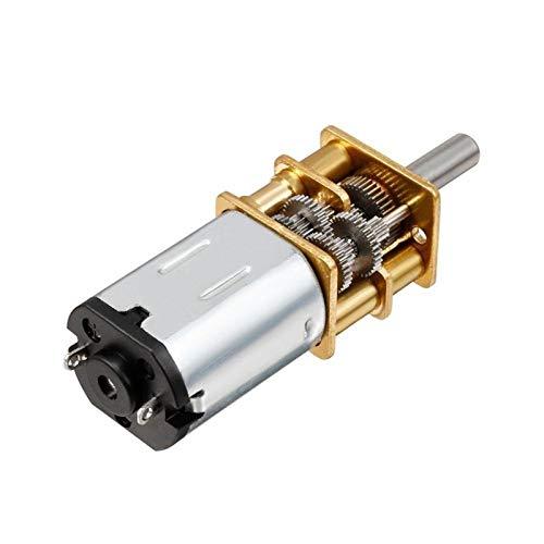 Pilang zxxin-Motores DC, DC 3V / 6V / 12V N20 Mini Mini Micro Met Motor, 15/30 / 50/60/100/200/300/500 / 1000rpm, con Motores de Engranajes DC, Duradero (Speed(RPM) : 15, Voltage(V) : 3V)